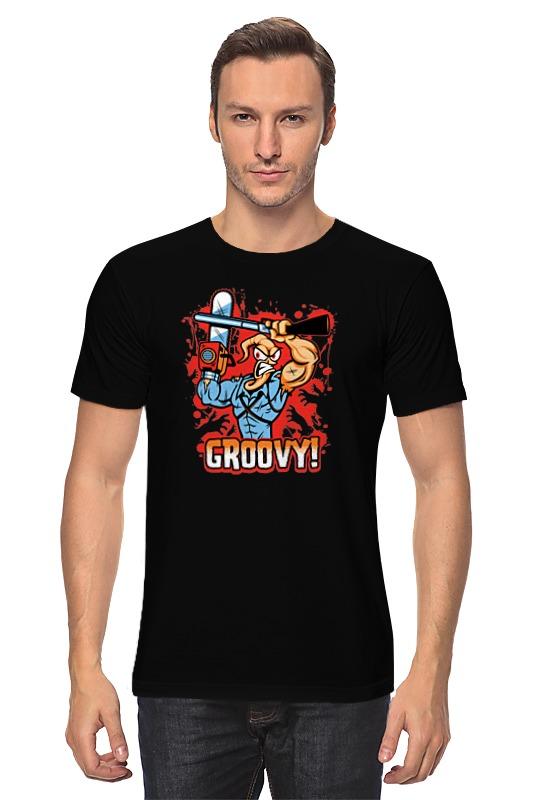 Футболка классическая Printio Червяк джим (earthworm jim) футболка с полной запечаткой для мальчиков printio червяк джим