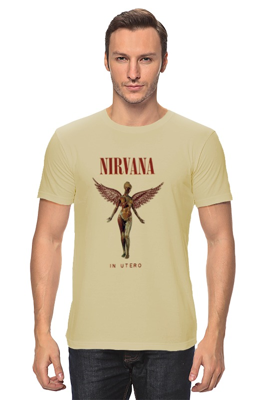Футболка классическая Printio Nirvana in utero t-shirt v neck lace up front loose t shirt in navy