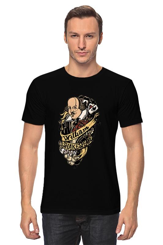 Футболка классическая Printio Шекспир тату черная вильям шекспир как вам это понравится много шума из ничего двенадцатая ночь перевод юрия лифшица