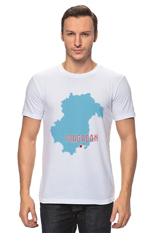 Футболка классическая Printio Магаданская область. магадан