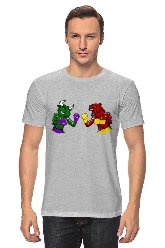 Футболка классическая Printio Бык и медведь футболка для беременных printio бешенный бык raging bull