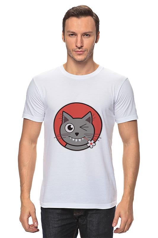 Футболка классическая Printio Забавный кот футболка классическая printio черно белый кот