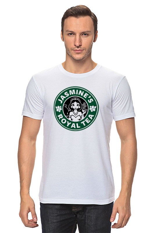 Футболка классическая Printio Принцесса жасмин футболка рингер printio принцесса жасмин