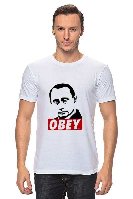 Футболка классическая Printio Путин obey лонгслив printio путин obey