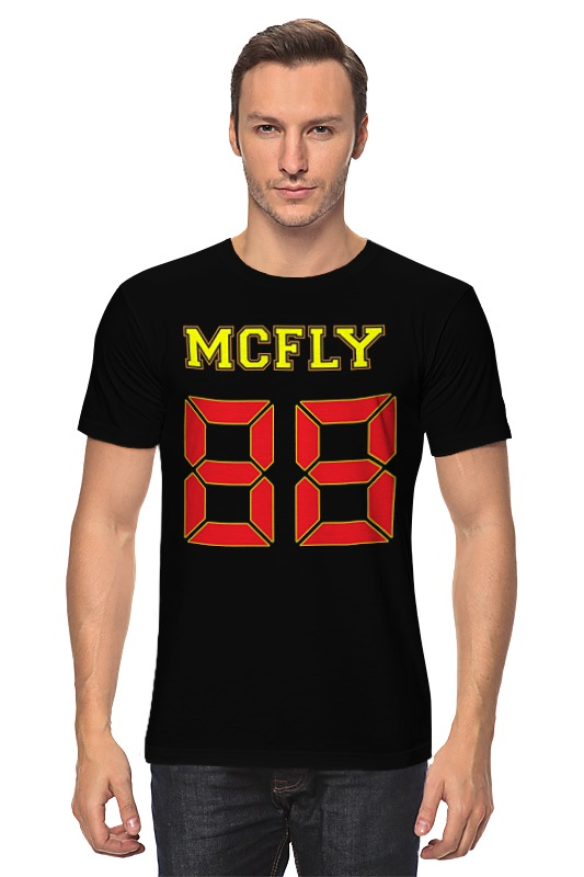 Футболка классическая Printio Марти макфлай (назад в будущее) футболка с полной запечаткой для мальчиков printio марти макфлай назад в будущее