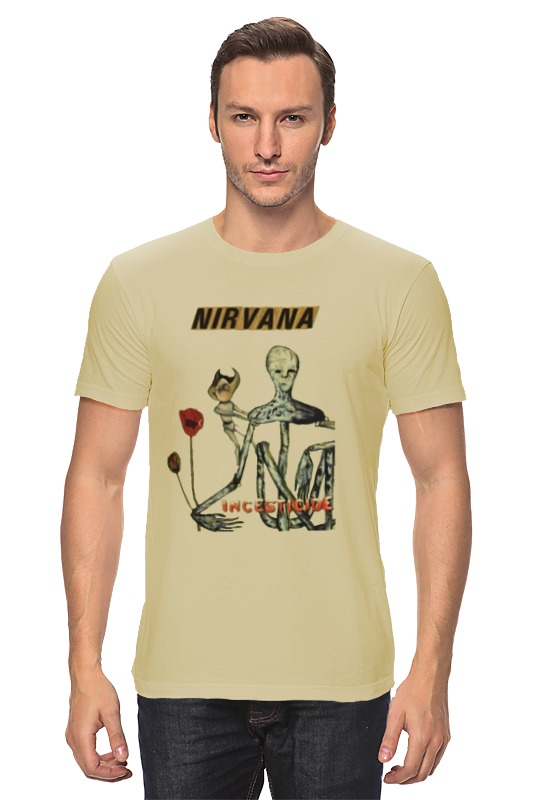Футболка классическая Printio Nirvana incesticide album t-shirt футболка wearcraft premium slim fit printio nirvana incesticide album t shirt