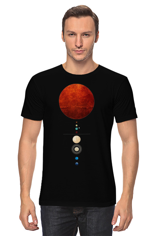 Футболка классическая Printio Солнечная система с и дубкова фамильные тайны солнечной системы вдали от солнца сатурн уран нептун