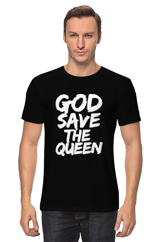 Футболка классическая Printio God save the queen (боже, храни королеву) the god delusion