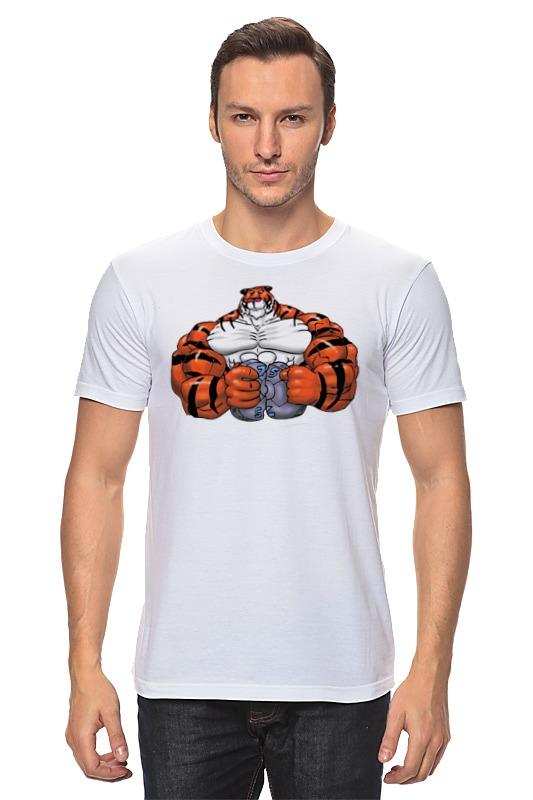 Футболка классическая Printio Тигр культурист win 179 хот шот бол сереб символ года тигр 800191