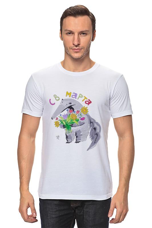 Футболка классическая Printio Муравьед с цветами майка классическая printio муравьед с цветами