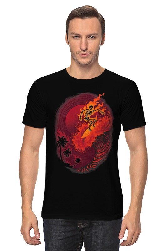 Футболка классическая Printio Огненная волна футболка классическая printio огненная сова