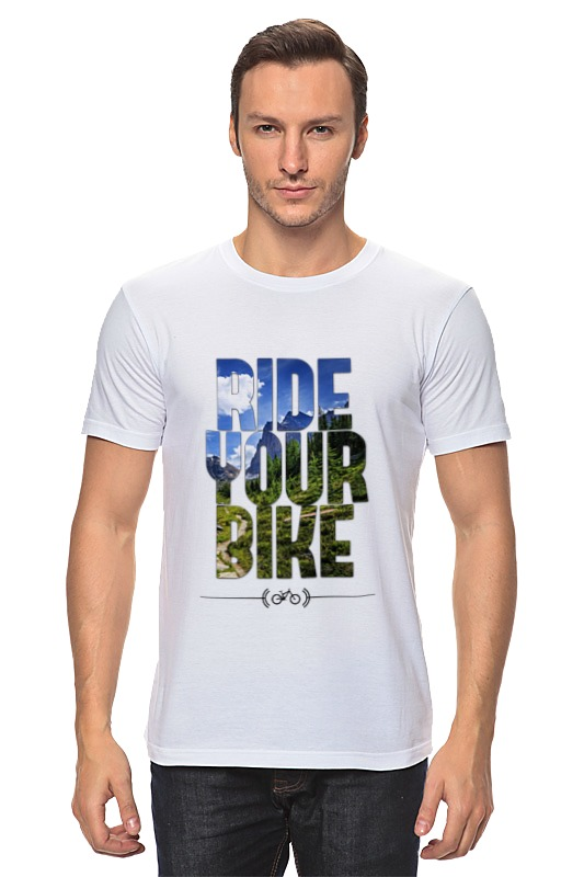 Футболка классическая Printio Ride your bike (горы) moon cycling helmet ultralight bicycle helmet in mold mtb bike helmet casco ciclismo road mountain bike safty helmet