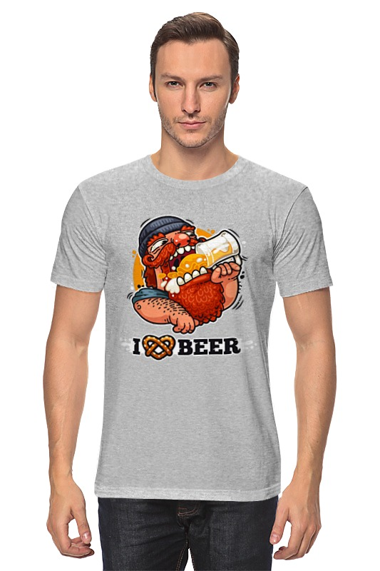 Футболка классическая Printio Я люблю пиво (i love beer) майка классическая printio я люблю пиво i love beer