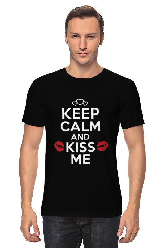 Футболка классическая Printio Keep calm and kiss me сумка printio keep calm and ski on
