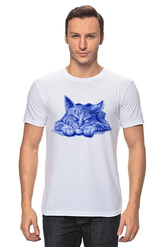 Футболка классическая Printio Задумчивый кот цены онлайн