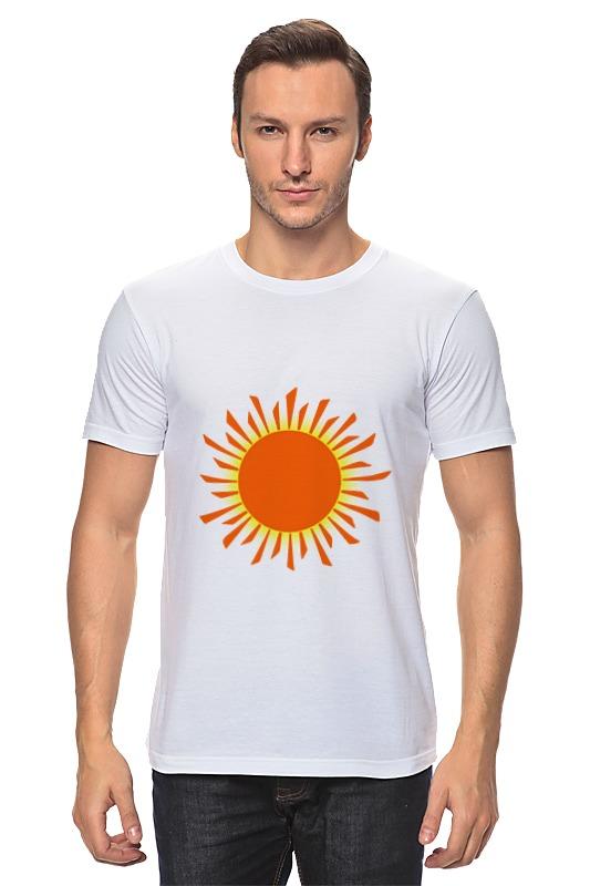 Футболка классическая Printio Оранжевое солнце футболка классическая printio оранжевое солнце