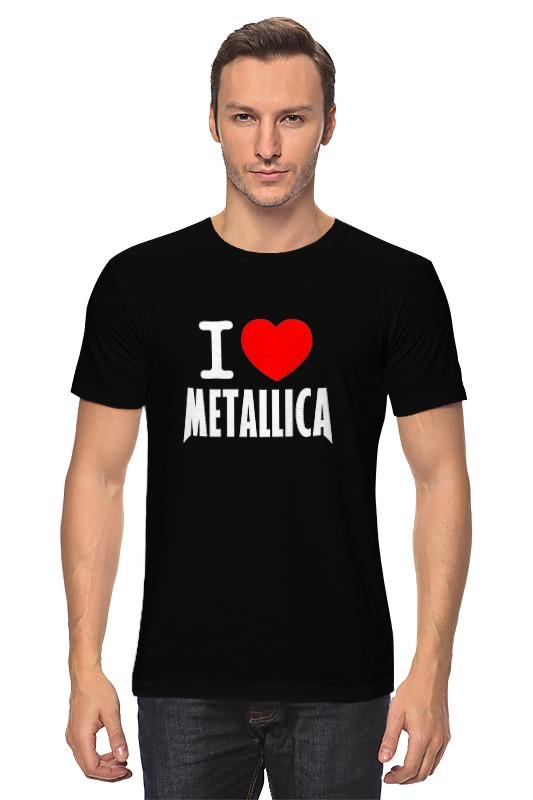 лучшая цена Футболка классическая Printio «i love metallica»