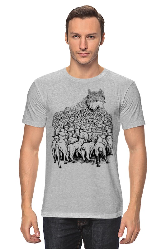 Футболка классическая Printio Волк в овечьей шкуре куликова г кто не спрятался тот виноват или витязь в овечьей шкуре