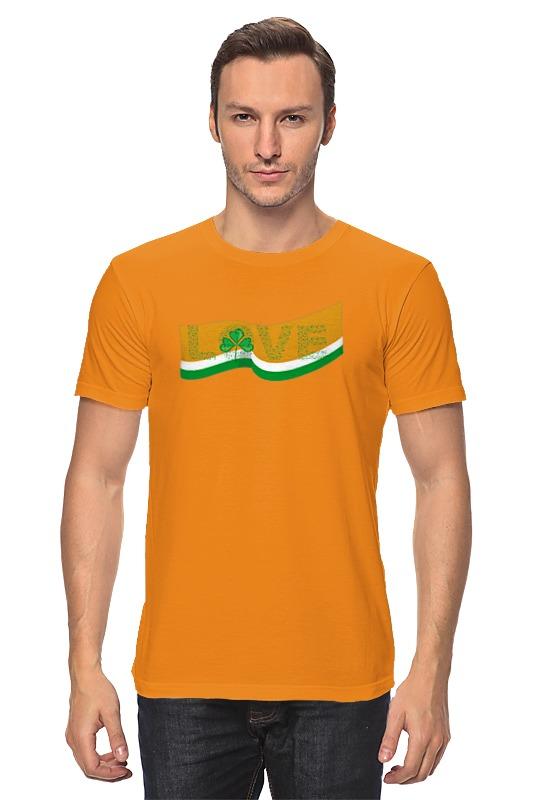 Футболка классическая Printio Love с ирландским флагом цена и фото