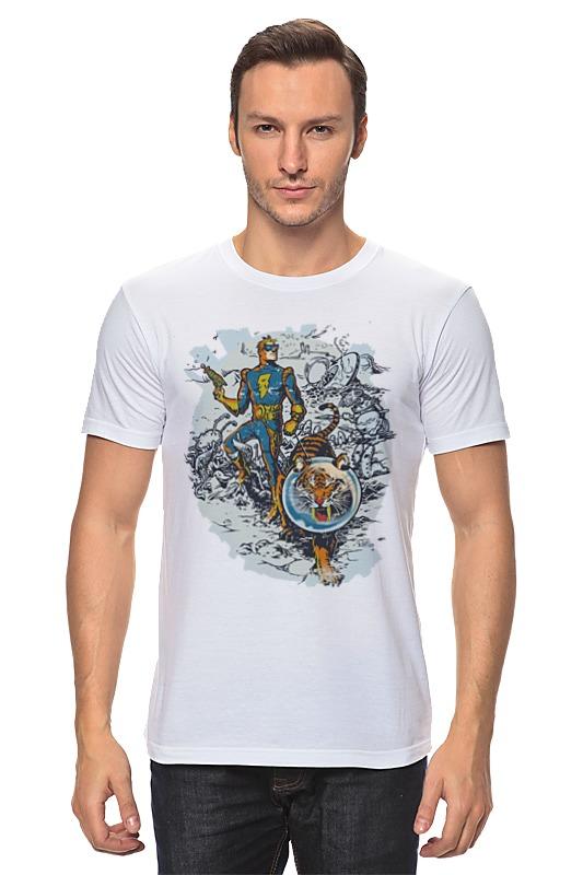 Футболка классическая Printio Calvin, the spiffy spaceman футболка классическая printio calvin the spiffy spaceman