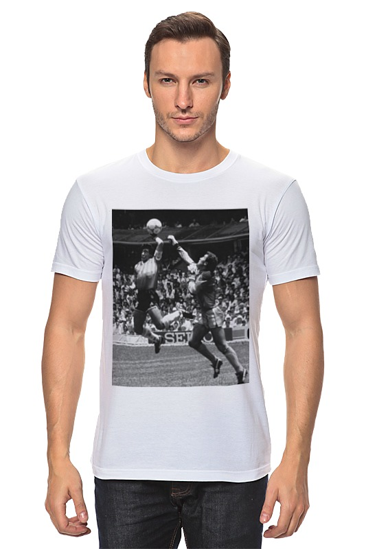 Футболка классическая Printio Гол диего марадоны (рука бога) цена