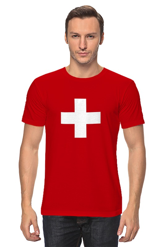 Футболка классическая Printio Флаг швейцарии косметика из швейцарии интернет магазин