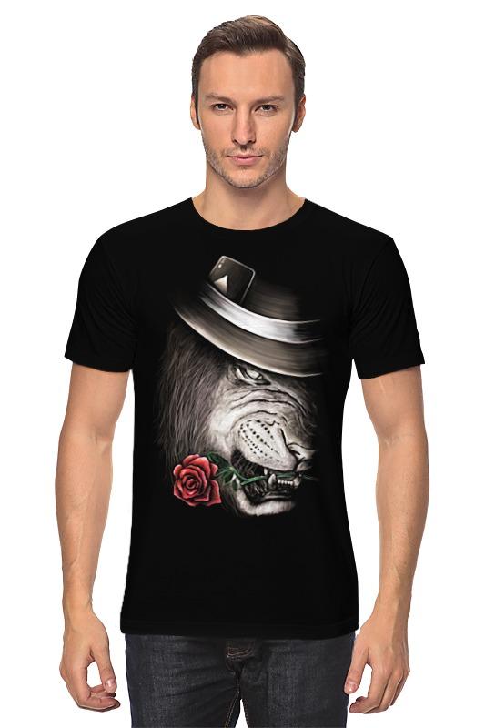 все цены на Футболка классическая Printio Лев и роза онлайн
