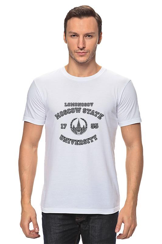 Футболка классическая Printio Мужская мгу футболка мужская lin curved