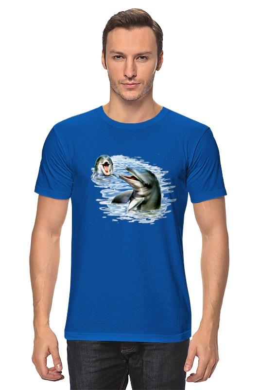 Футболка классическая Printio Дельфины наклейка для интерьера дельфины