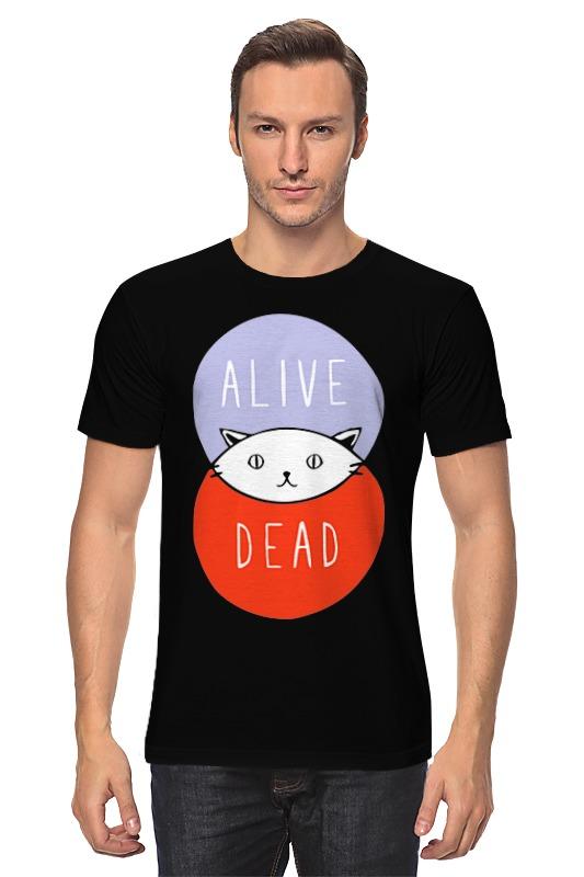 Футболка классическая Printio Кот шрёдингера (живой, мертвый) футболка print bar мертвый туман