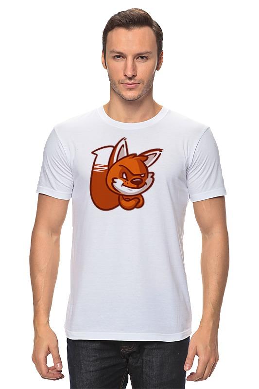 Футболка классическая Printio Лиса (fox) red fox футболка red fox logo женская l 8000 белый