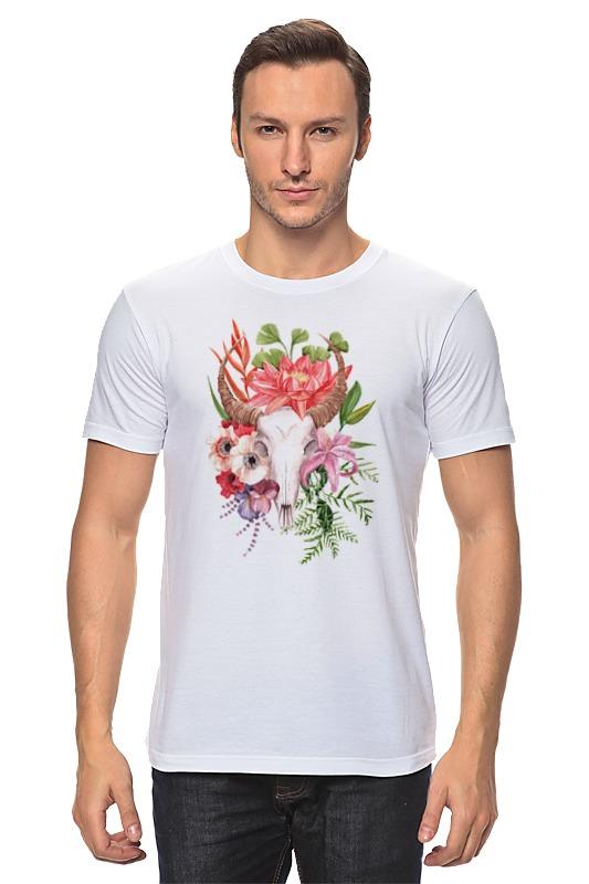Футболка классическая Printio Flower skull skull flower tank top with openwork lace back