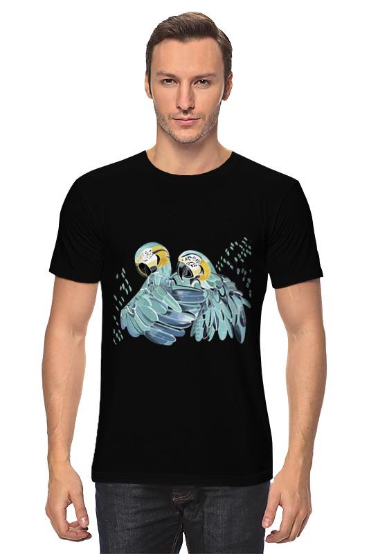 цена на Футболка классическая Printio Влюбленные попугайчики