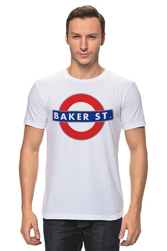Футболка классическая Printio Бейкер-стрит (шерлок) майка print bar 221b baker street
