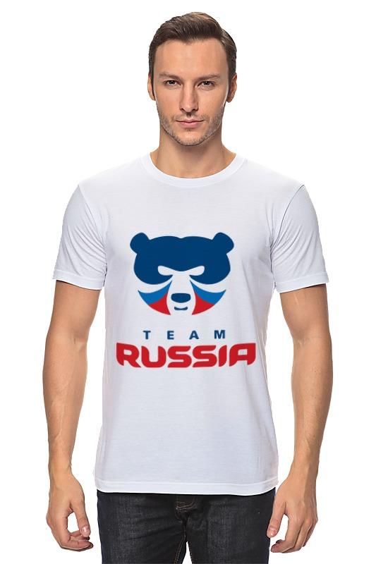 Футболка классическая Printio Russia team майка print bar subaru team russia