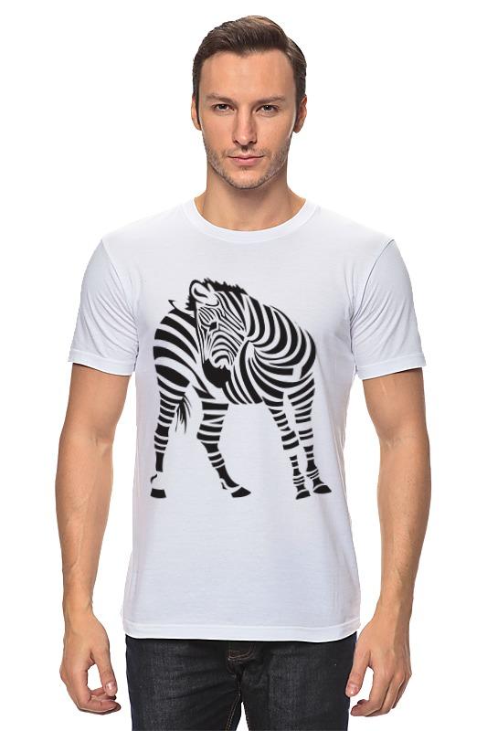 Футболка классическая Printio Зебра зебра зебра кроссовки синие