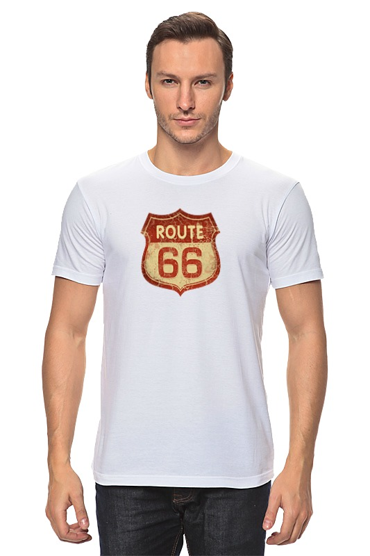 Футболка классическая Printio Route 66 plus size lace insert stripe smock dress