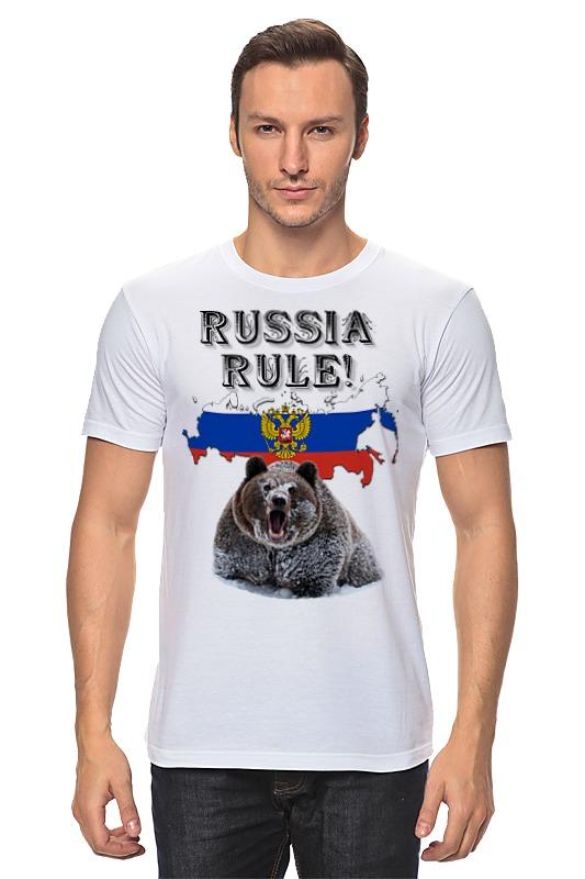 Фото Футболка классическая Printio Russia rule! классик