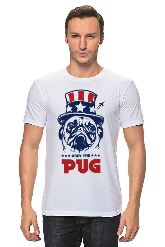 все цены на Футболка классическая Printio Мопс президент (obey pug)