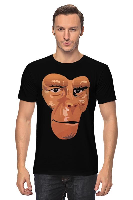 Футболка классическая Printio Обезьяна (планета обезьян) футболка с полной запечаткой для девочек printio планета обезьян planet of the apes