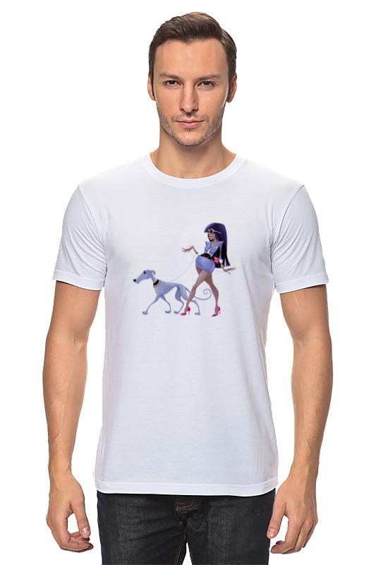 Футболка классическая Printio Леди с собакой цена