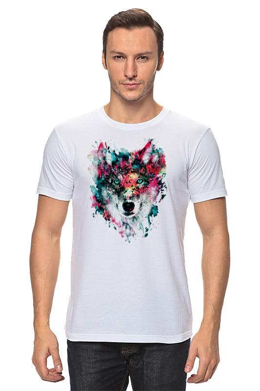 Футболка классическая Printio Волк (абстракция) футболка классическая printio тамбовский волк тебе товарищ