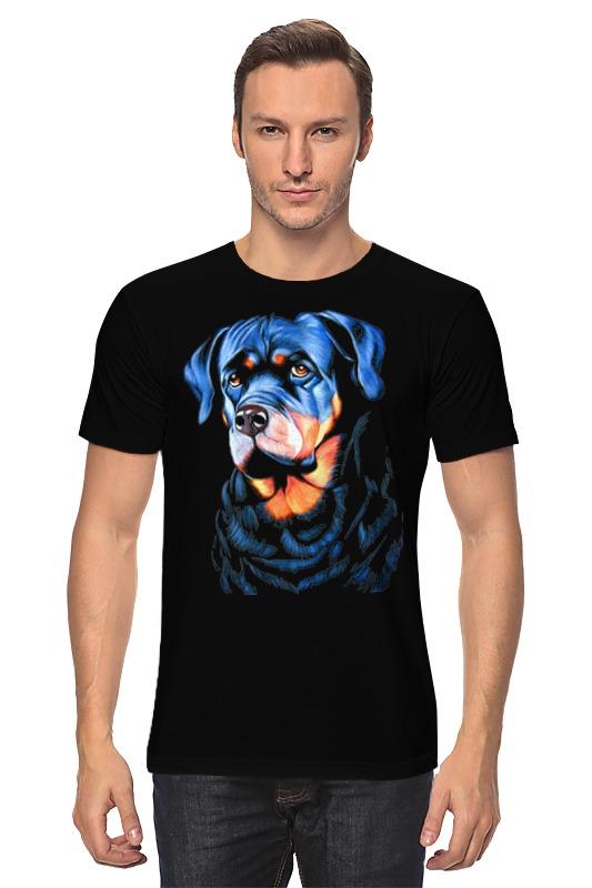 Футболка классическая Printio Собака на черном бархате