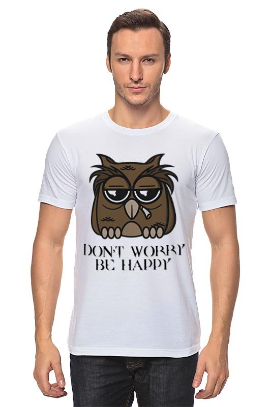 Футболка классическая Printio Грустная сова футболка print bar сова