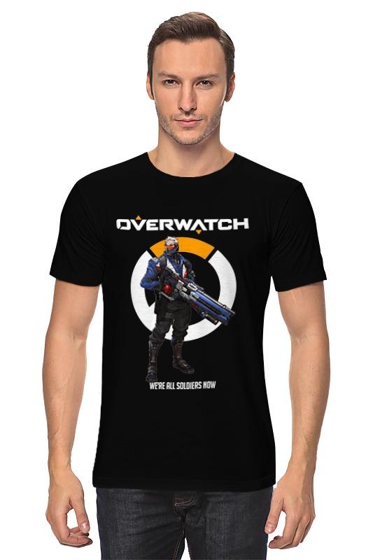 Футболка классическая Printio Overwatch. солдат 76 футболка классическая printio неизвестный солдат