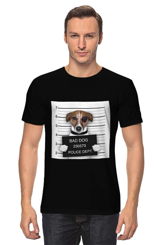 Футболка классическая Printio Bad dog (плохой пес) сумка printio gta 5 dog