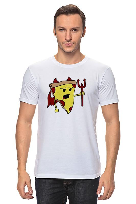 Футболка классическая Printio Пицца дьявол футболка wearcraft premium printio пицца дьявол