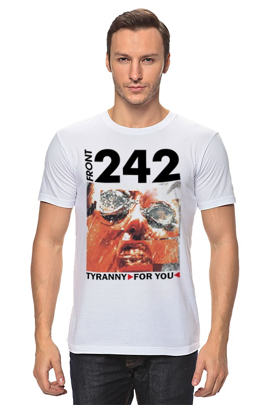 Футболка классическая Printio Front 242 / tyranny ▷ for you ◁ motorcycle front
