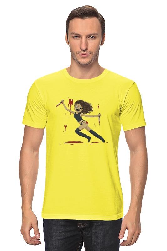 Футболка классическая Printio Кровавая девушка (bloody girl) цена