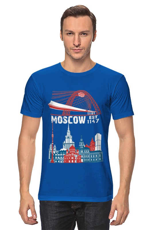 Футболка классическая Printio Moscow. establshed in 1147 faithless live in moscow